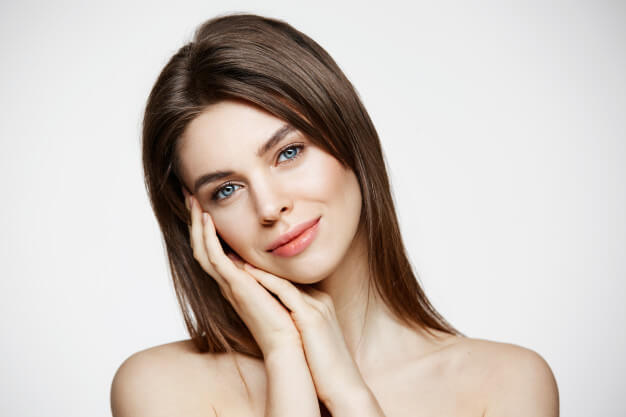naked young beautiful woman with natural make up smiling cosmetology spa facial treatment 176420 13966